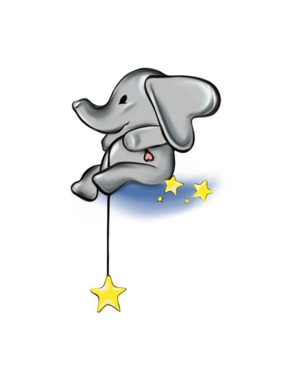 Svjetlucavi slonić - Marisha studio ilustracija
