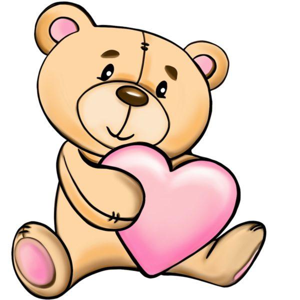 Tedy heart - Marisha studio ilustracija