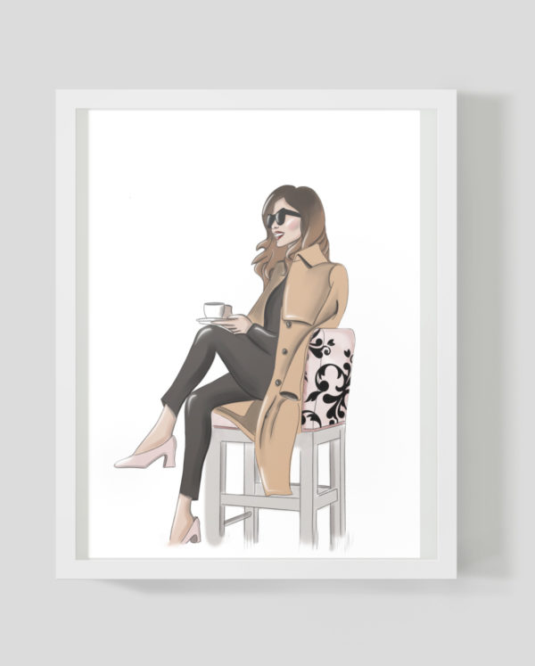 Coffee girl - Marisha studio ilustracija