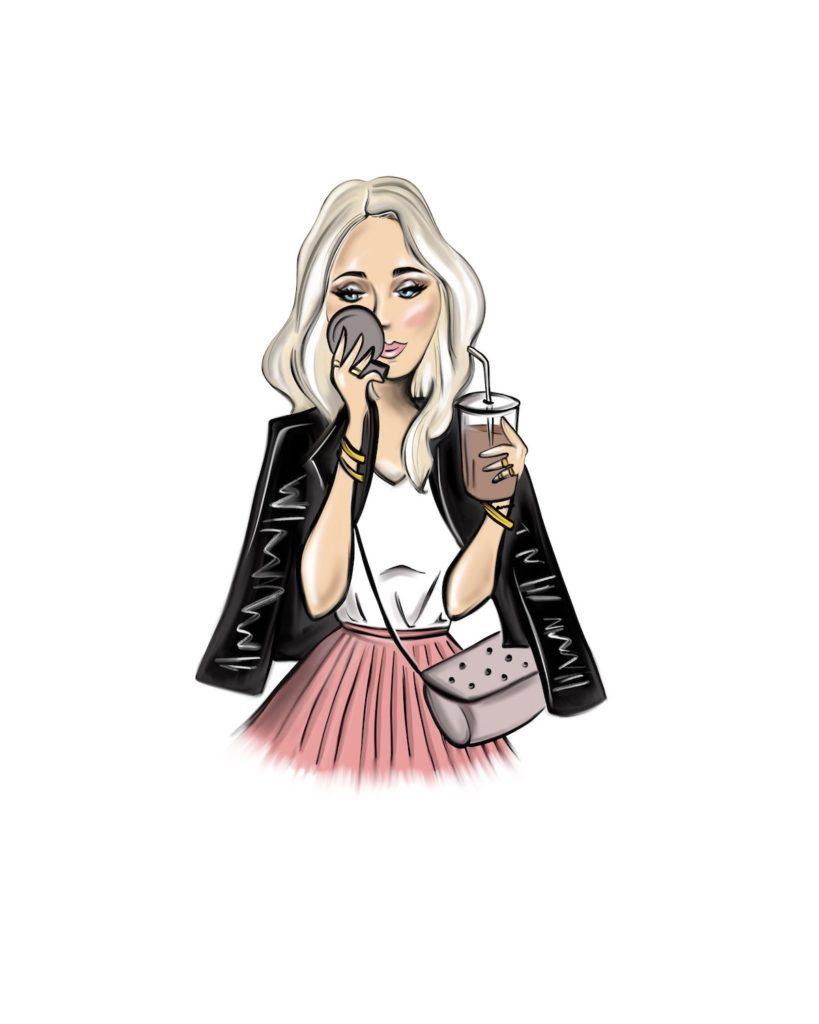 Trendy girl - Marisha studio ilustracija
