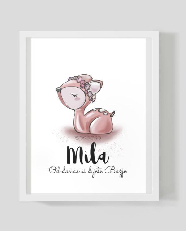 Srnica Mila - Marisha studio ilustracija