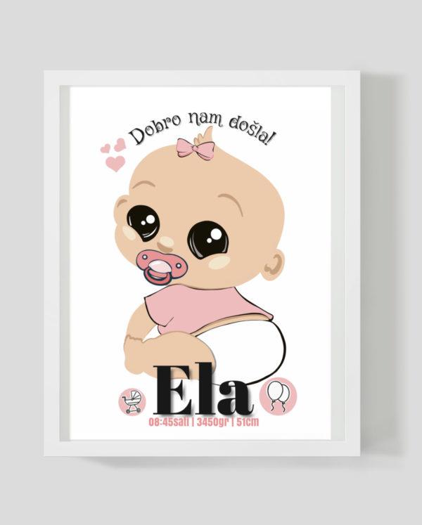 Baby girl - Marisha studio ilustracije