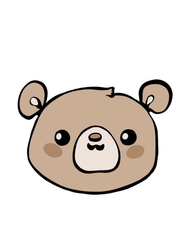 Happy teddy - Marisha studio ilustracija