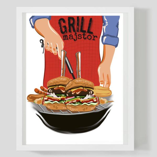Grill majstor - Marisha studio ilustracija
