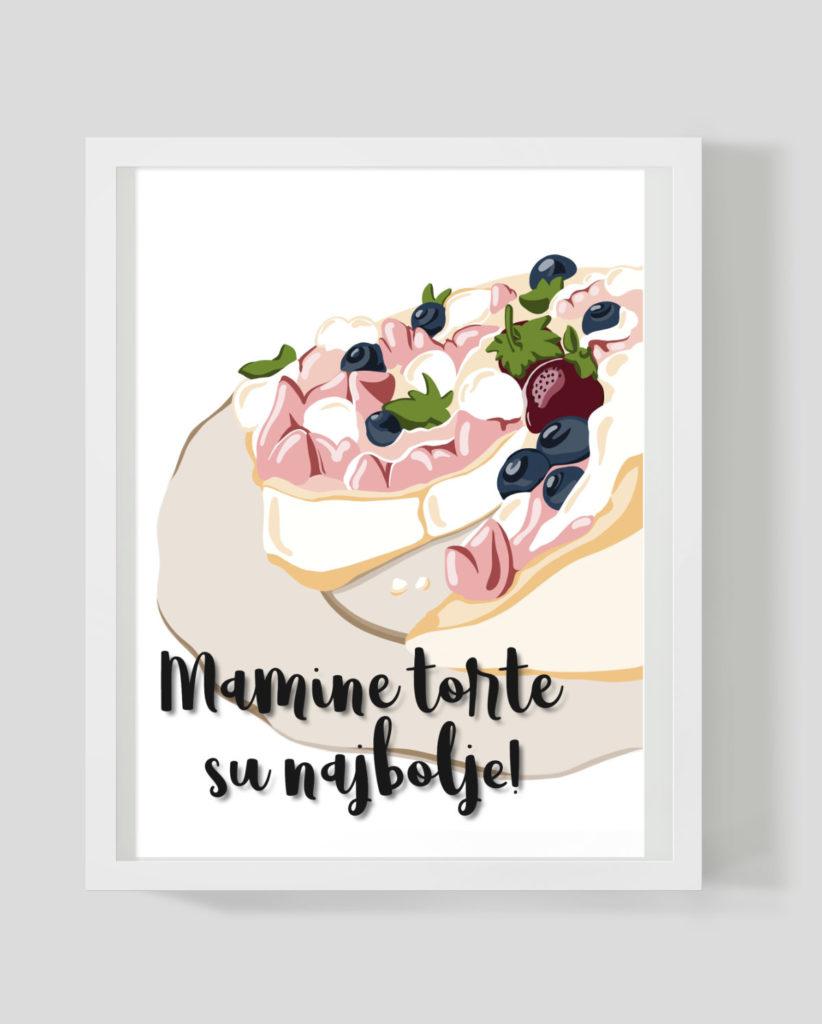 Pavlova torta - Marisha studio ilustracije