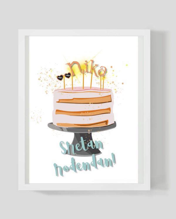 B-day cake - Marisha studio ilustracije